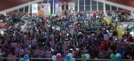 Masivos apoyos a candidaturas marcan últimos días de campaña