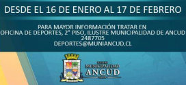 Oficina de Deportes en Ancud implementará Escuelas de Verano 2017